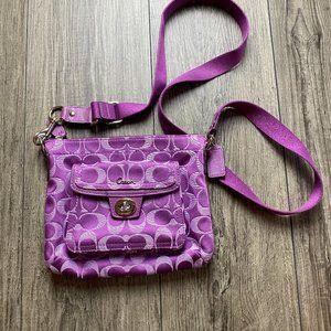COACH Signature Logo Purple Crossbody Bag